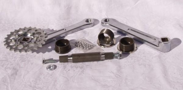 Spezial Vierkant Kegelgetriebe 150mm, komplett, Radball Jugend